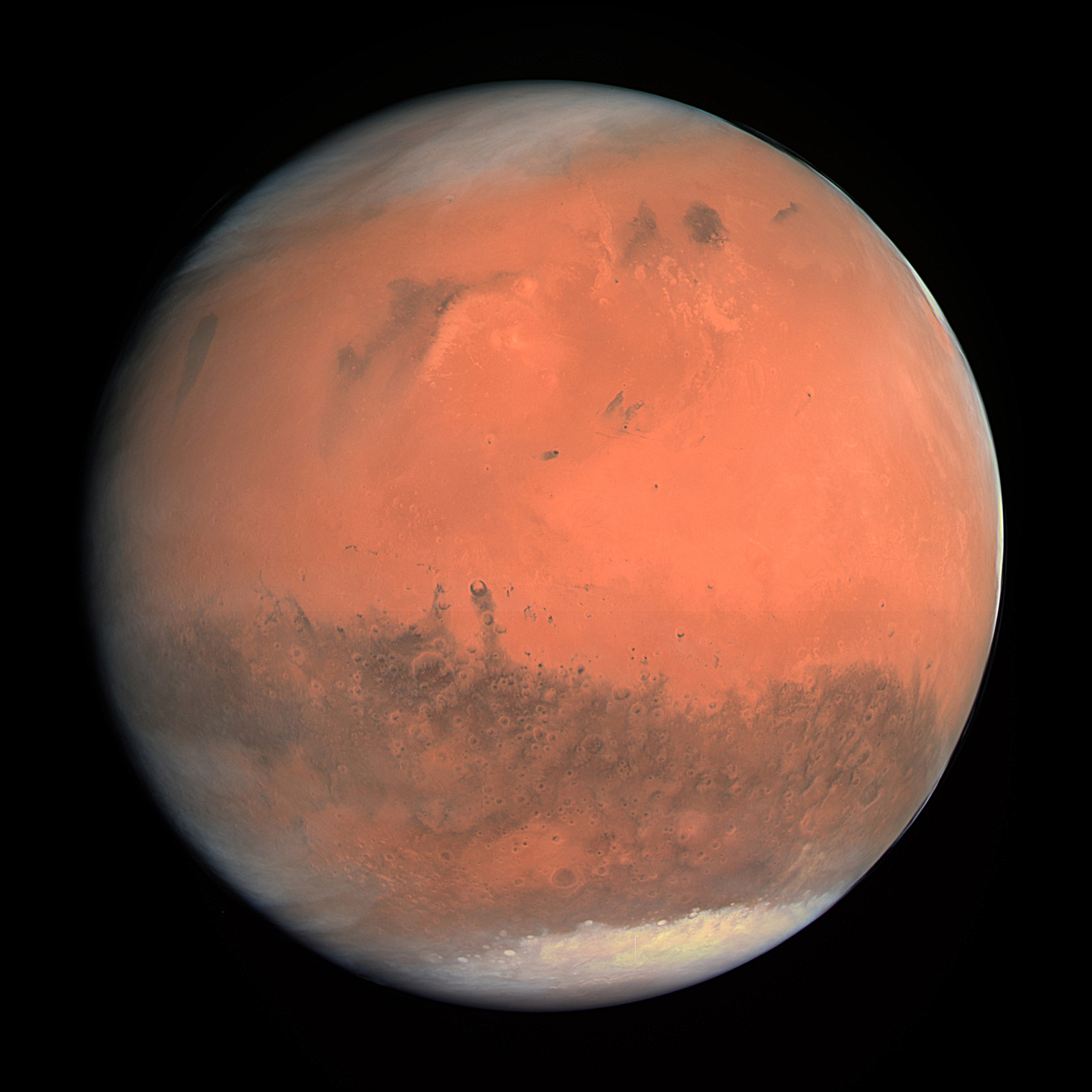 Drawn planet mars Mars and valleys canyons
