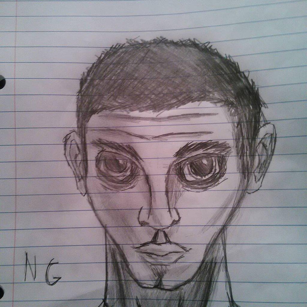Drawn planet person #12