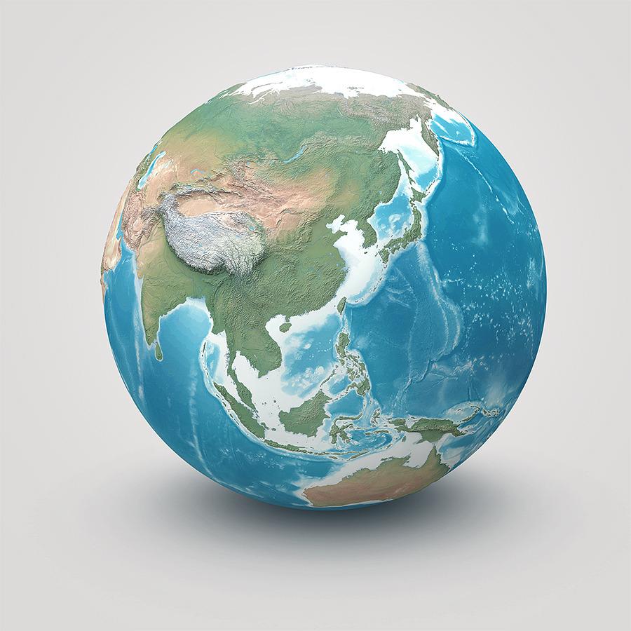 Drawn planet realistic Realistic globe 01_earth photoshop Earth