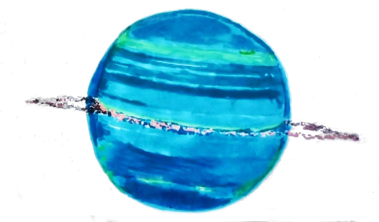 Drawn planet uranus planet YouTube (the How to (the