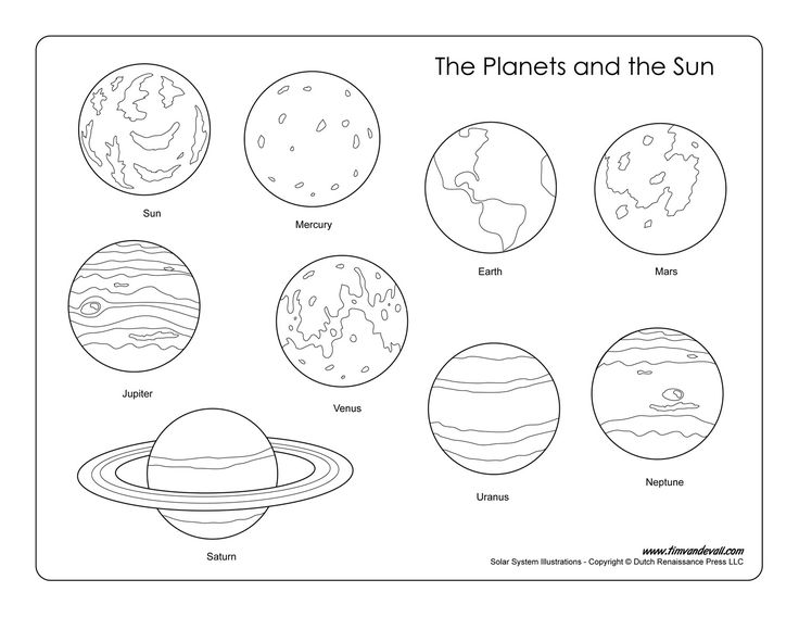 Drawn planets Pics Coloring System on ideas