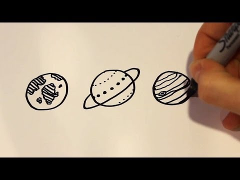 Drawn planets Planets Cartoon to  Draw