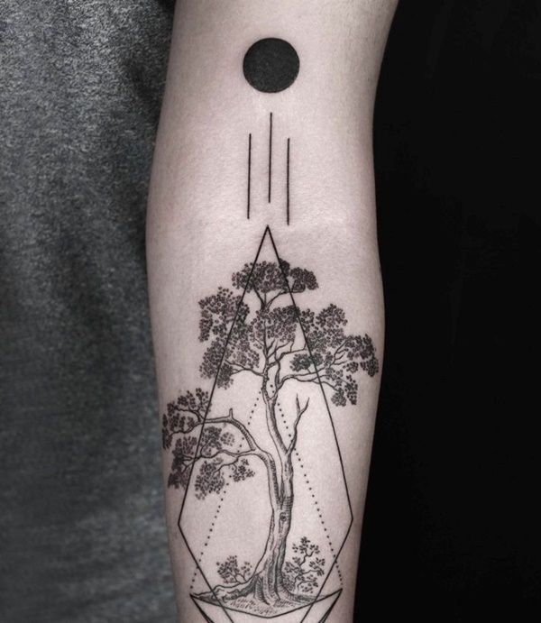 Drawn planets arm Pinterest The ideas Tattoos Geometric