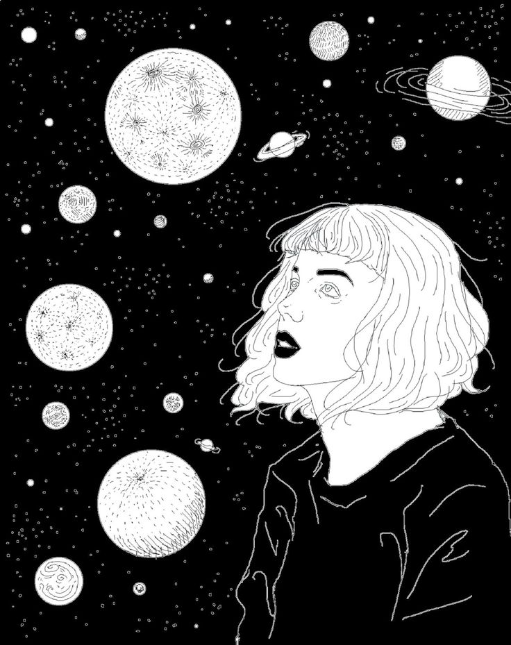 Drawn space dark And Really ideas white The