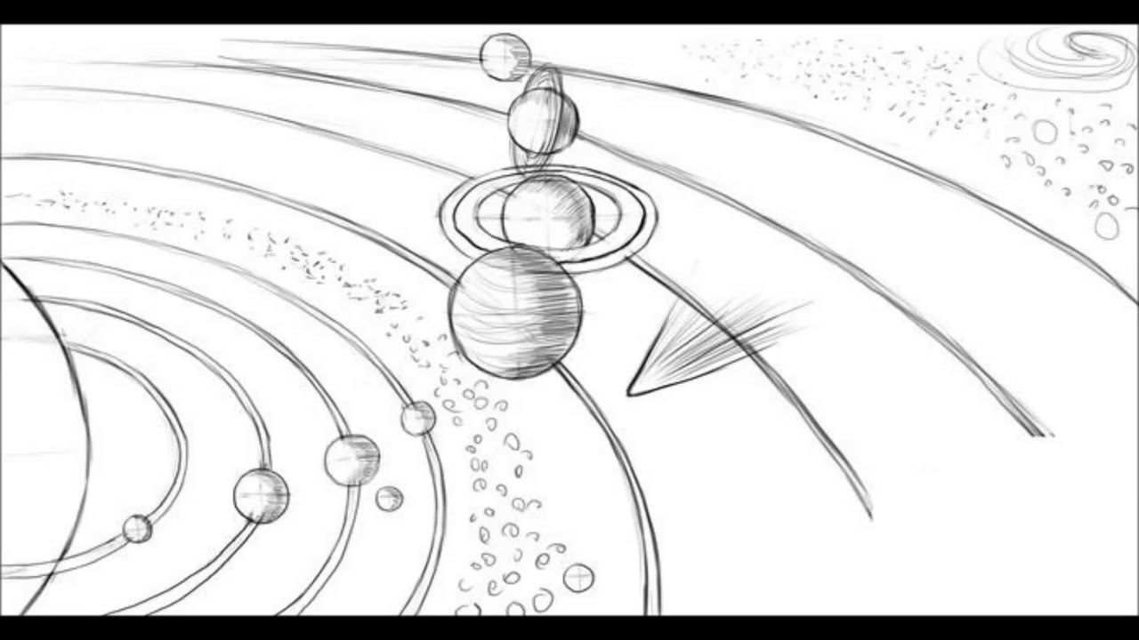 Drawn planets black paper Draw System To Draw System