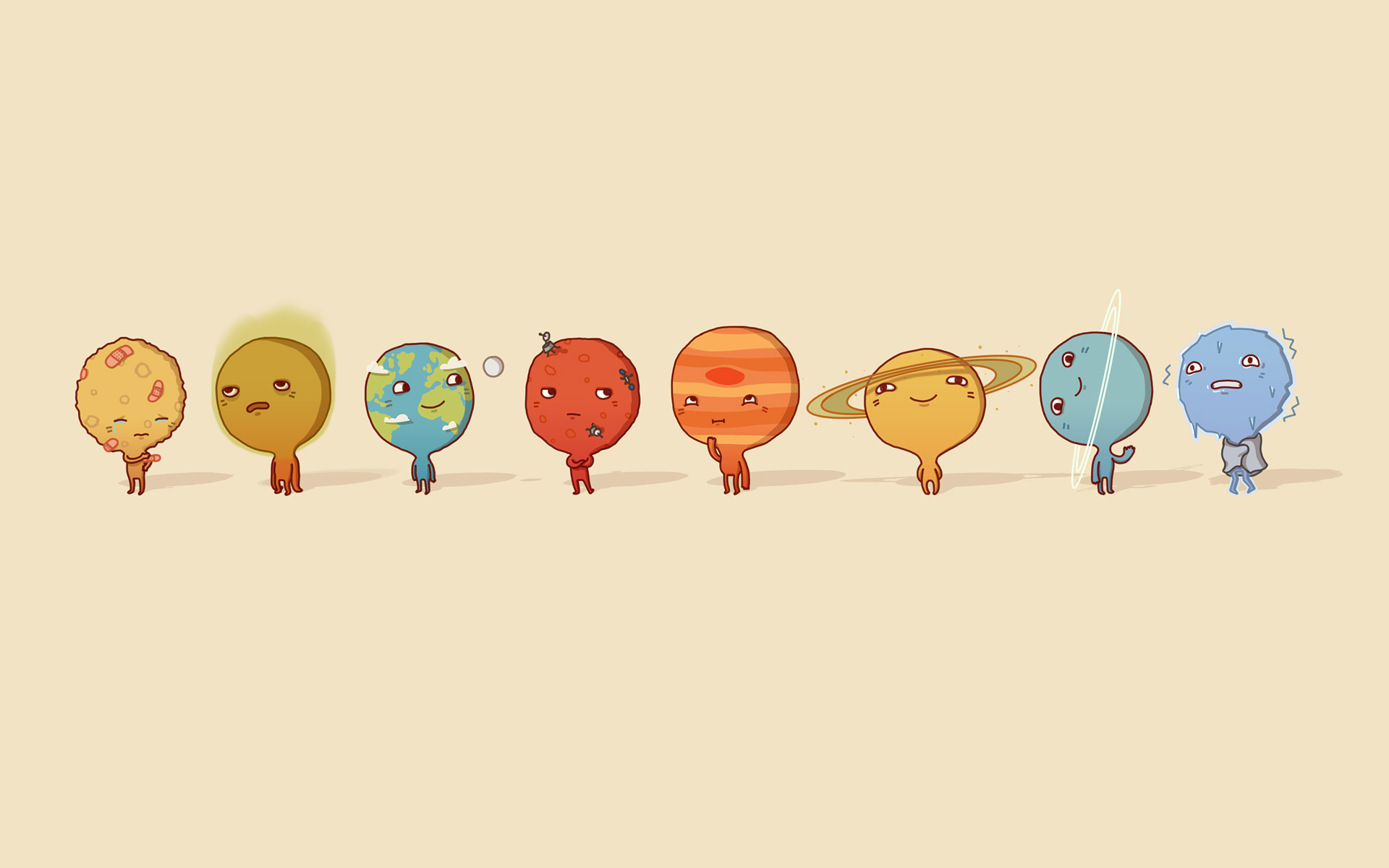 Drawn planets cartoon Cartoon Wallpapers Cartoon GetCoolWallpapers Planets