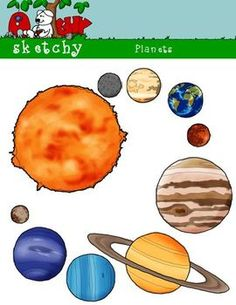 Drawn planets clipart Planets drawn and included! Solar