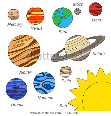 Drawn planets clipart Images Stock Royalty clipart collection