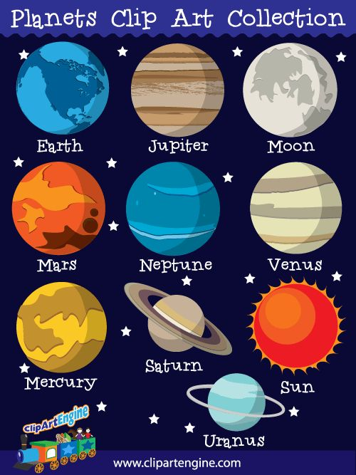 Drawn planets clipart Clip Planets that free vector