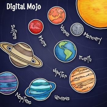 Drawn planets clipart And System Pinterest system clipart