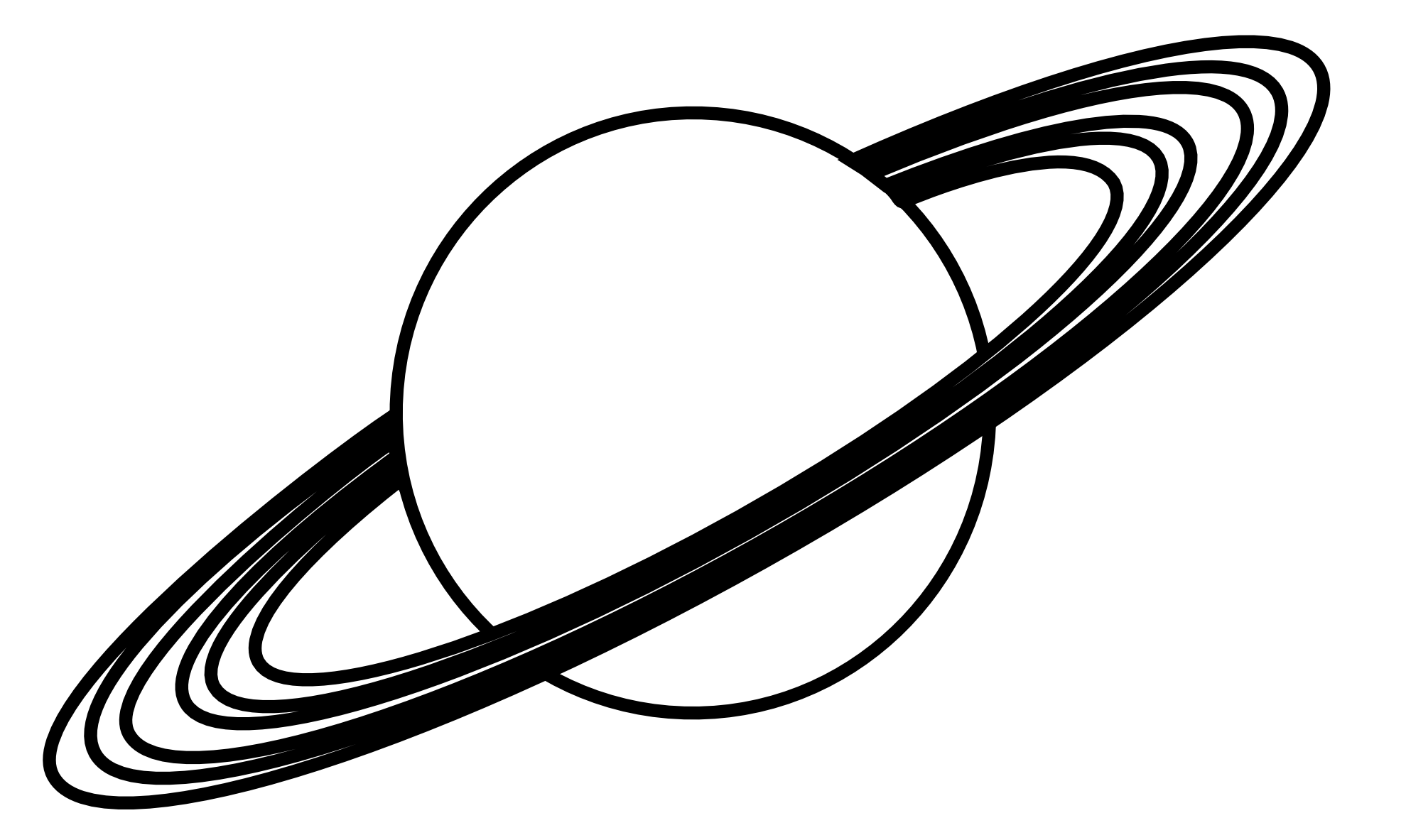 Planets clipart drawn #9