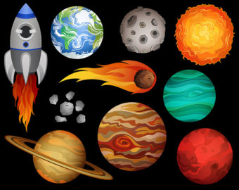 Planets clipart drawn #6