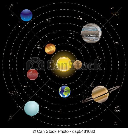 Planets clipart drawn #13