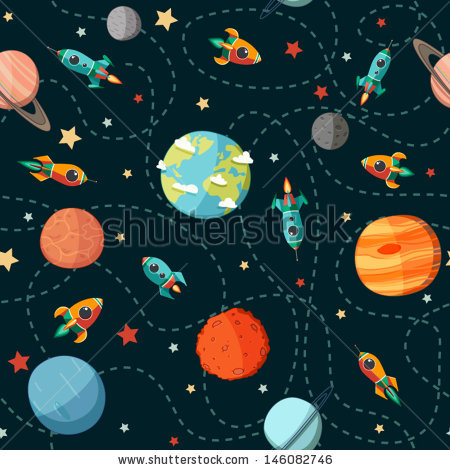Drawn planets comic And  Planets icons Kid's