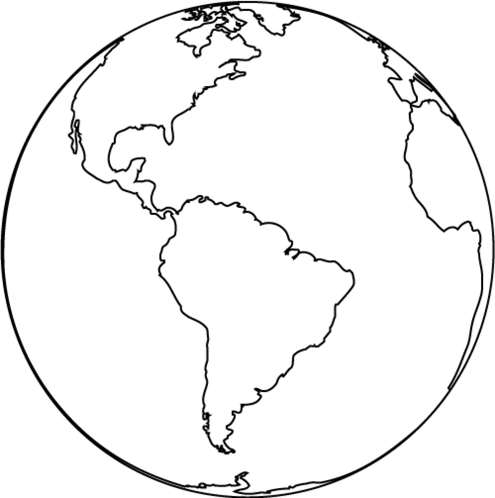 Planet Earth clipart colored #4