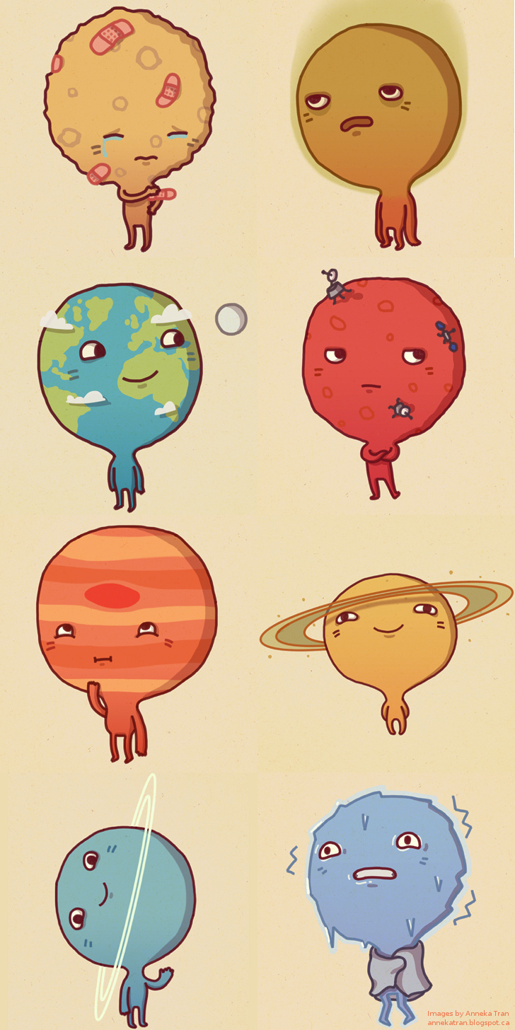 Drawn planets cute Cute by planets the Charts