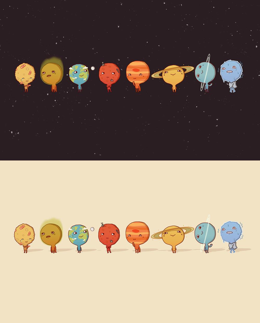 Drawn planets cute Solar #Planet  #Planet Wallpapers