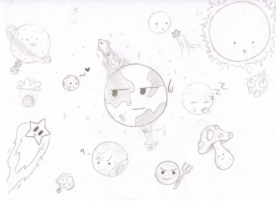 Drawn planets cute cartoon PandaRamma by DeviantArt on Cartoon