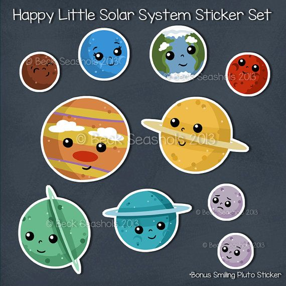 Drawn planets cute cartoon Hand Cartoon #planets ciuchy Mercury