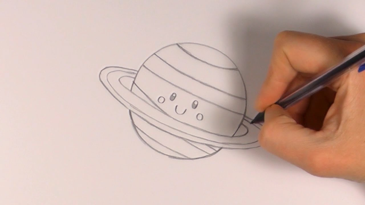 Drawn planets cute cartoon P: A Planet a R
