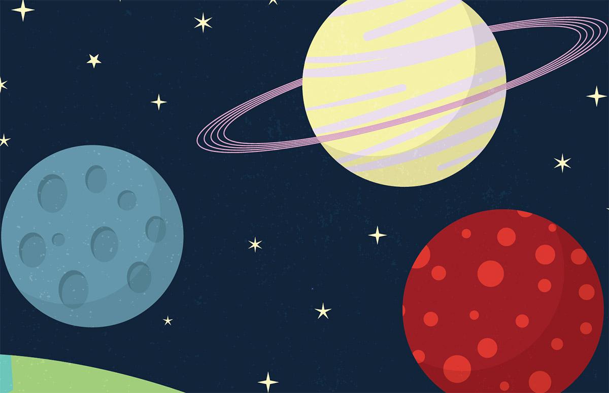 Drawn planets easy  Scene Tutorial: Style Illustrator
