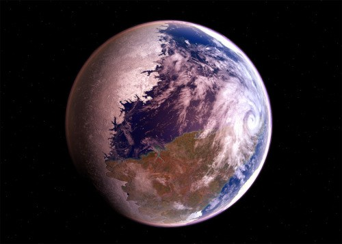 Drawn planets fire and ice Still on such Condensate worlds