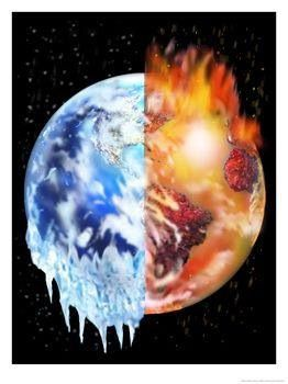 Drawn planets fire and ice Fantasy of Pinterest  Sky
