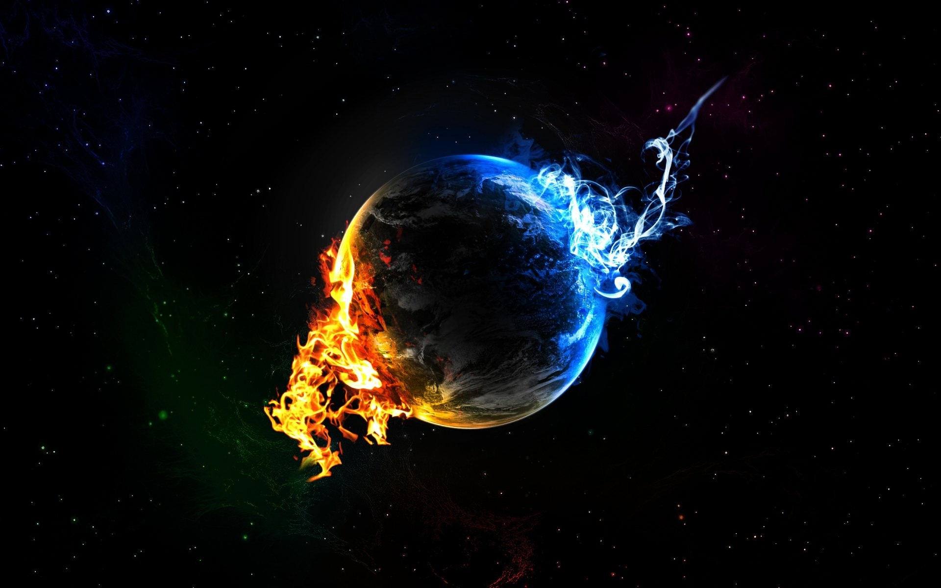 Drawn planets fire and ice Beginnings Ice Fire Fire ice