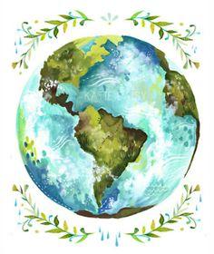 Drawn planets global My Earth World  Globe