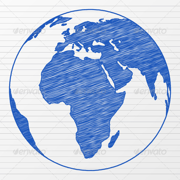 Drawn planets global Drawing World Globe Drawing Globe