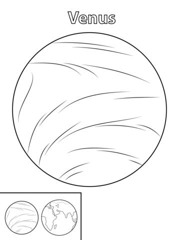 Drawn planets individual To Coloring Free page Venus