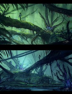 Drawn planets jungle By deviantart JUNGLE Planet fern