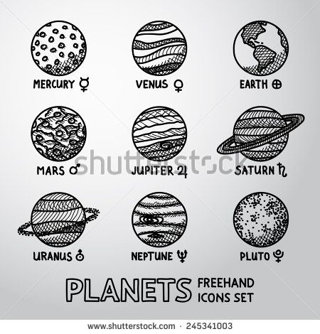 Mars clipart pluto planet With ideas mercury icons on