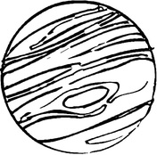 Drawn planets jupiter Free Jupiter pages Planets Pages