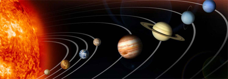 Drawn planets kid The planets guide the