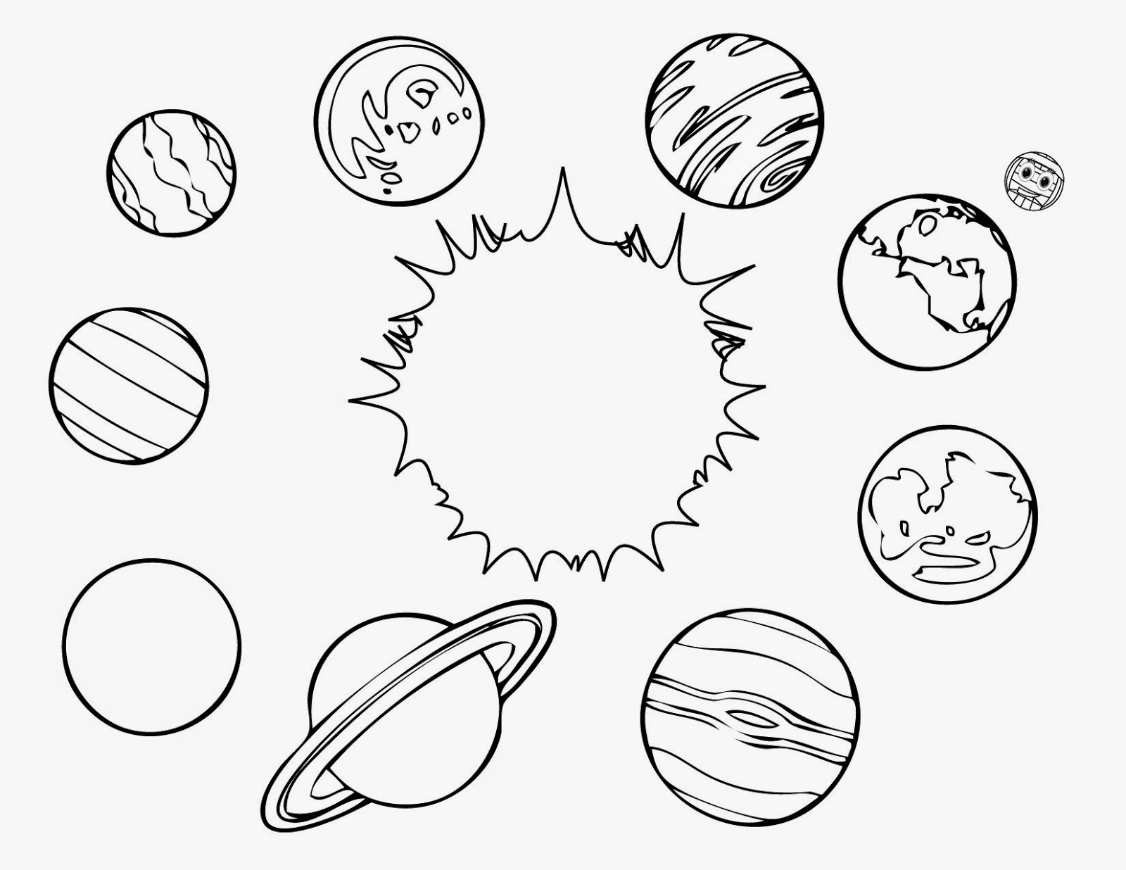 Drawn planets kid For free and for coloring