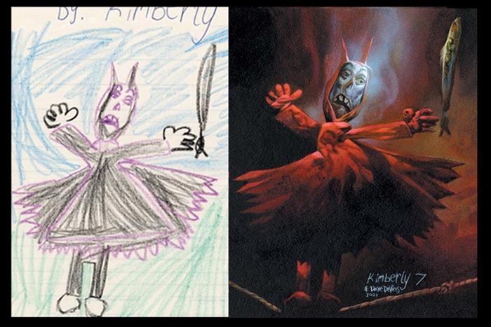 Drawn planets monster Children's The  engine4 monster