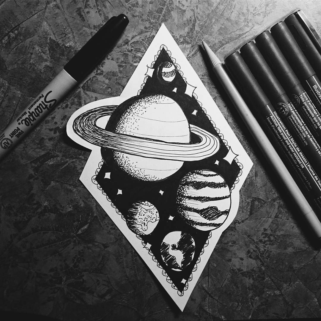 Drawn planets outer space #drawing please pics OUTER planet