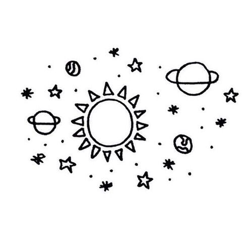 Drawn planets outer space Drawing DrawingCool Planet 25+ More
