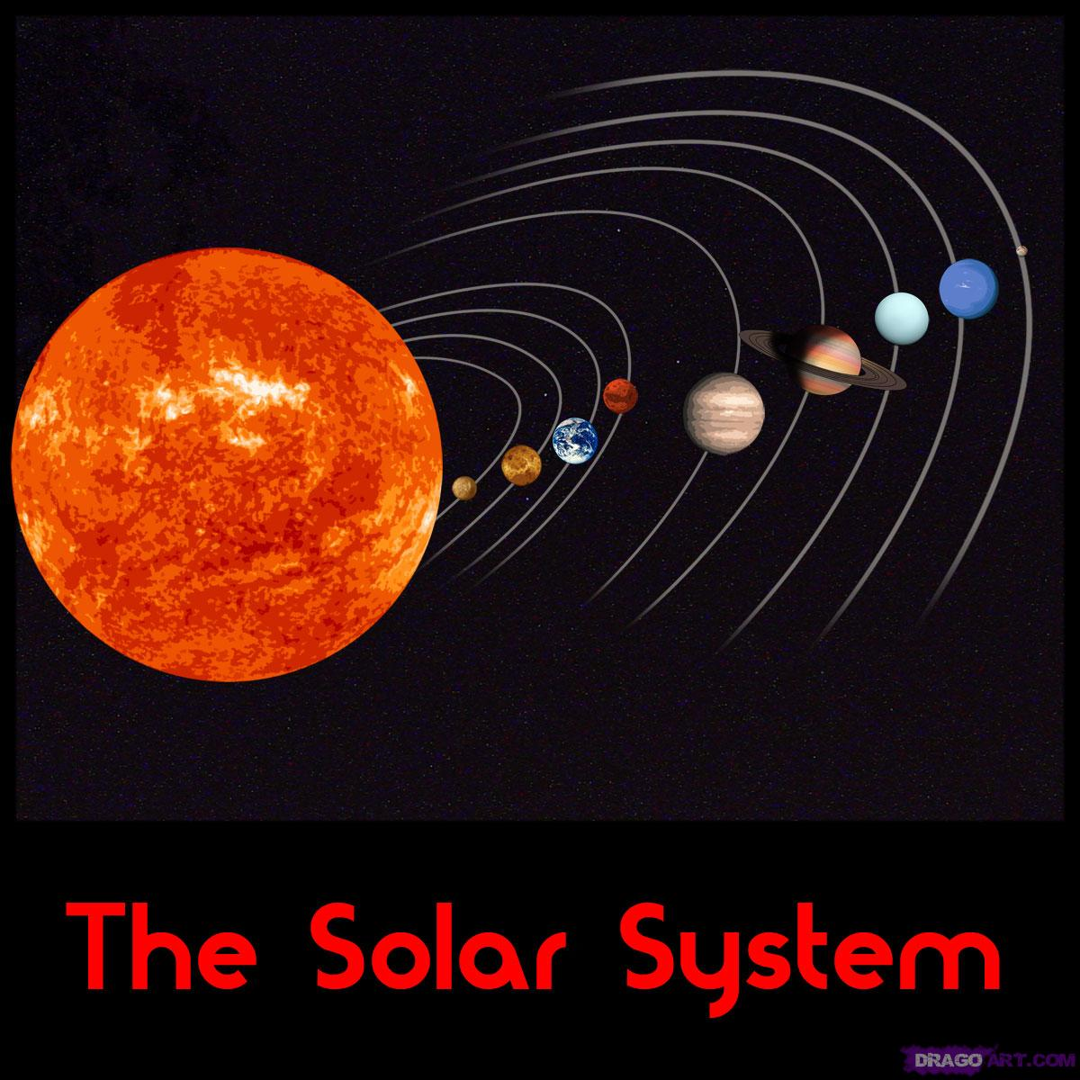 Drawn amd solar system By Step to the system