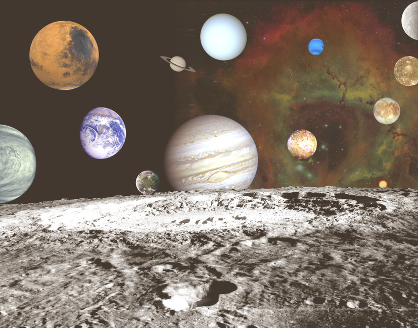 Drawn planets outer space Art · planets Space space