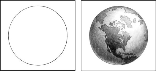 Drawn planets pencil drawing Light Light closer Drawing at