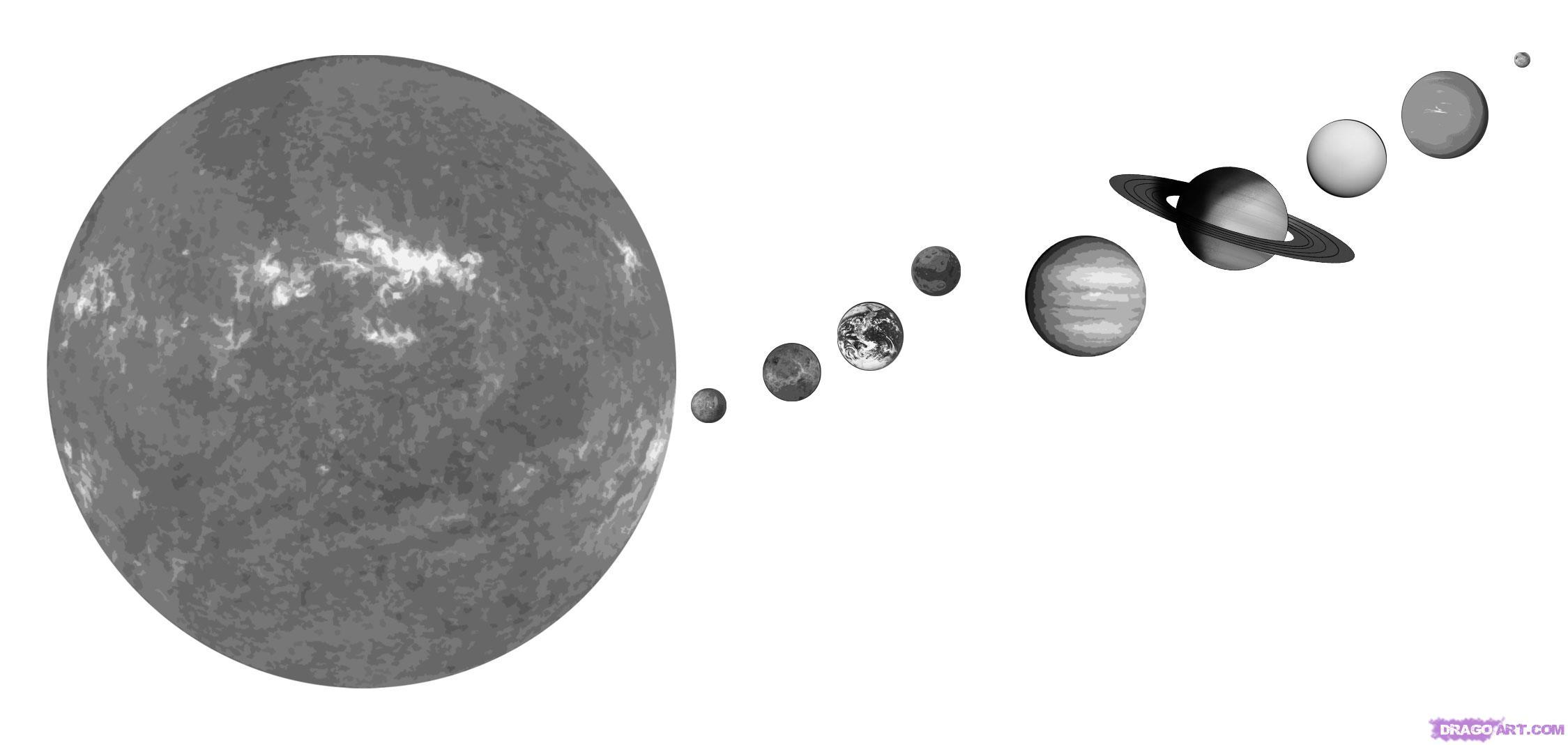 Drawn planets world map globe Landmarks How to Solar Step
