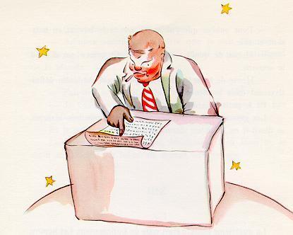 Drawn planets person Saint businessman The little de
