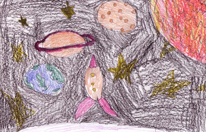 Drawn planets pluto planet Exploration: Kid's a of a