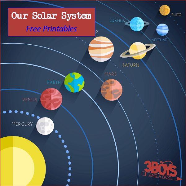 Drawn planets printable Solar and Solar system Printables
