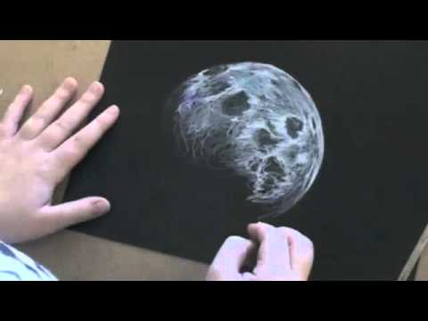 Drawn planet realistic Lapse Moon Moon Drawing Time