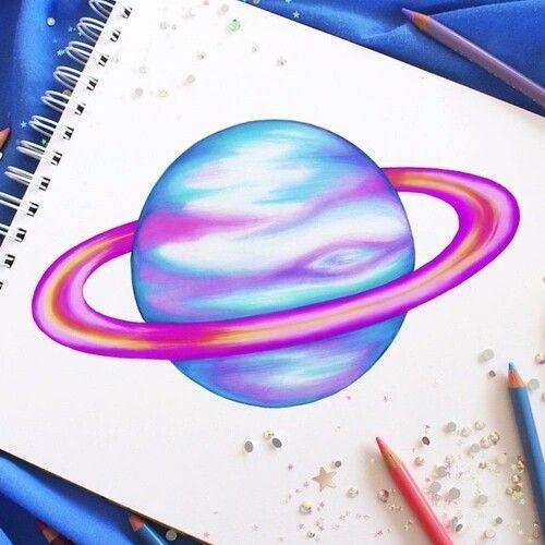 Drawn planet realistic Easy Drawings Planet Planet Drawings