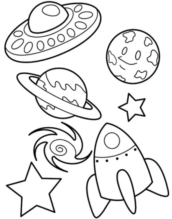 Drawn planets rocket ship Spaceship Coloring Galaxy Spaceship UFO
