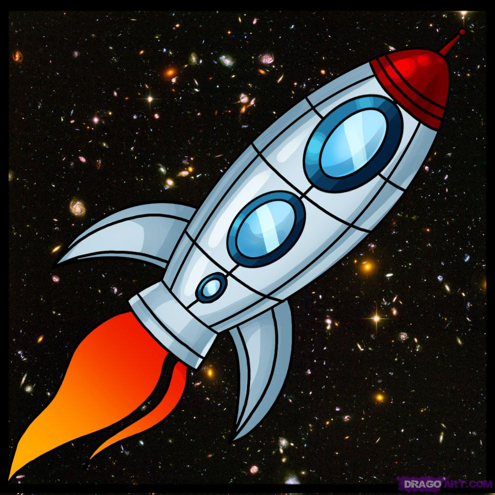 Drawn planets rocket ship Spaceship Space Two: and Lesson